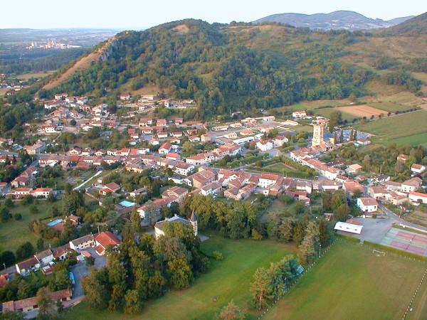 vue aerienne de Roquefort sur Garonne