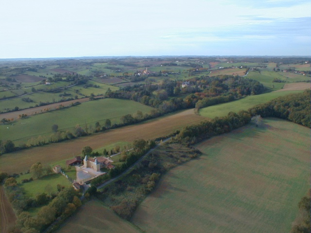 vue aerienne du chateau de Saint-André