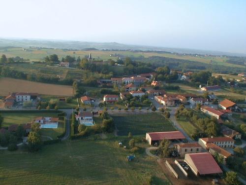 vue aerienne de Saman