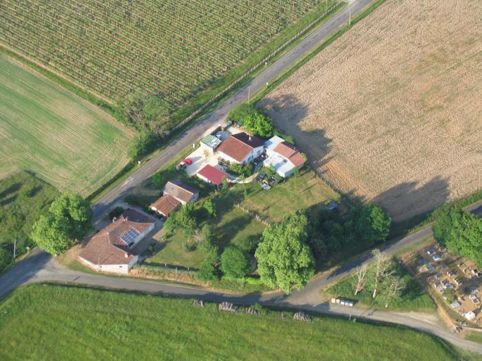 Vue aérienne de Saran à Parleboscq