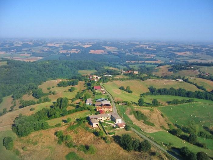 vue aerienne de Soulan à Castera-Vignoles en Haute-Garonne