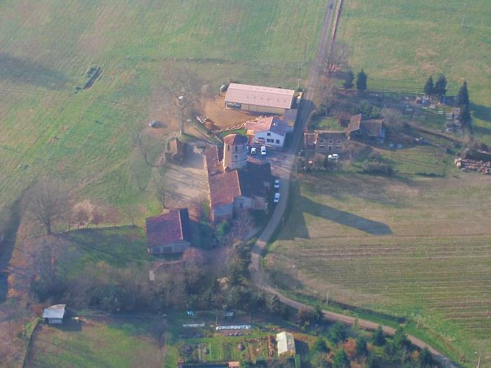 vue aerienne de Saint-Canne 32240 Castex d'Armagnac