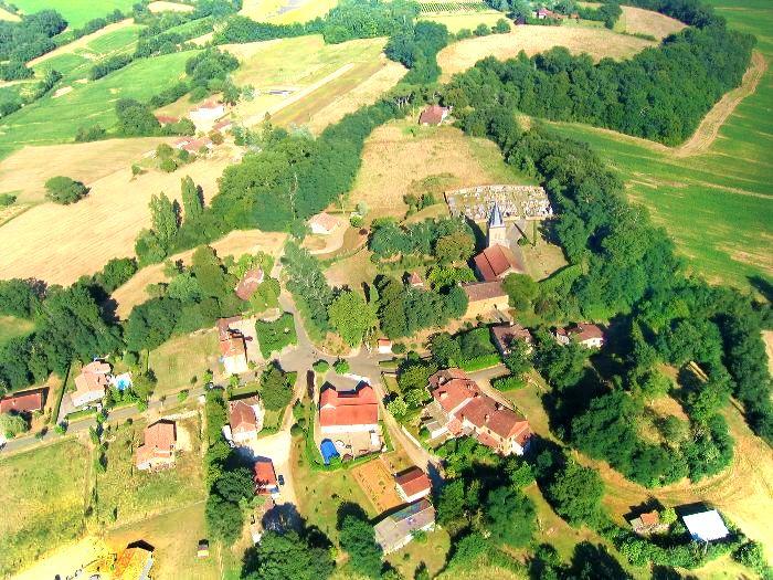 Vue aerienne de Sainte-Christie-d'Armagnac