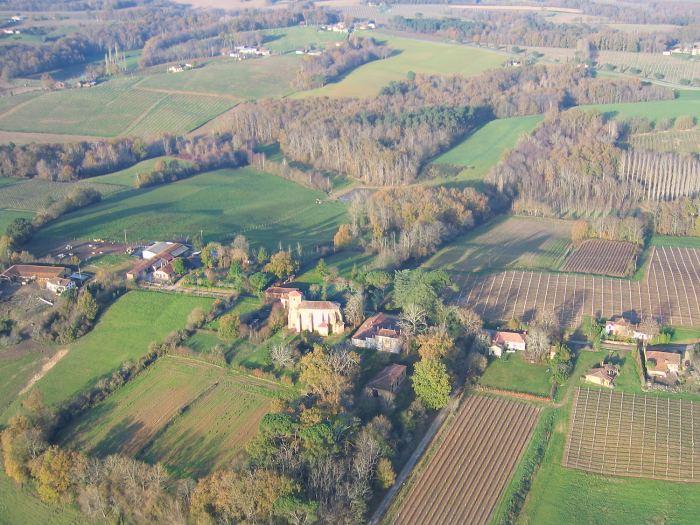 Vue aerienne de Sainte-Fauste