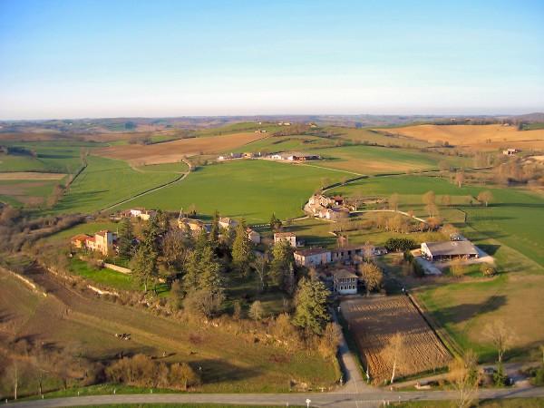 vue aerienne de Saint-Élix-Ségland