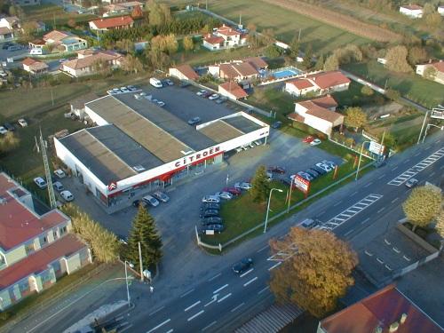 vue aerienne de la concession Citroën de Saint-Gaudens
