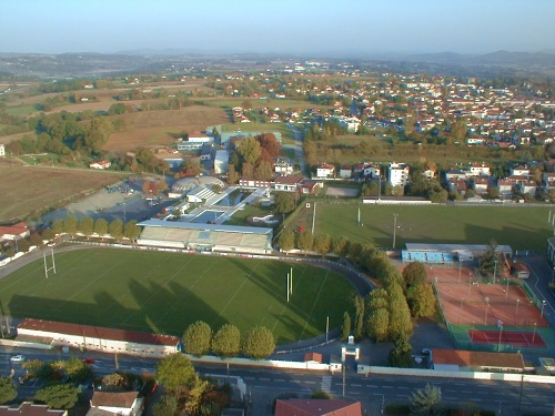 vue aerienne du terrrain de rugby de Saint-Gaudens