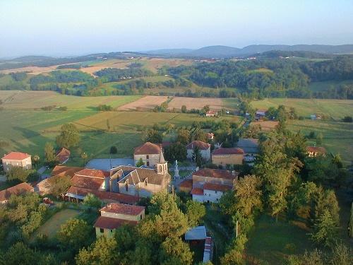 vue aerienne de Saint-Lary-Boujean