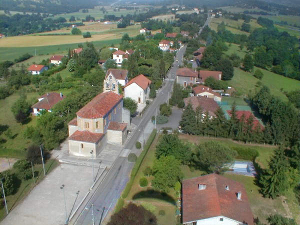 vue aerienne de Saint-Medard