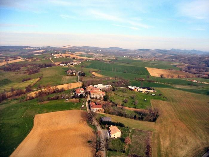 vue aerienne de Vidale