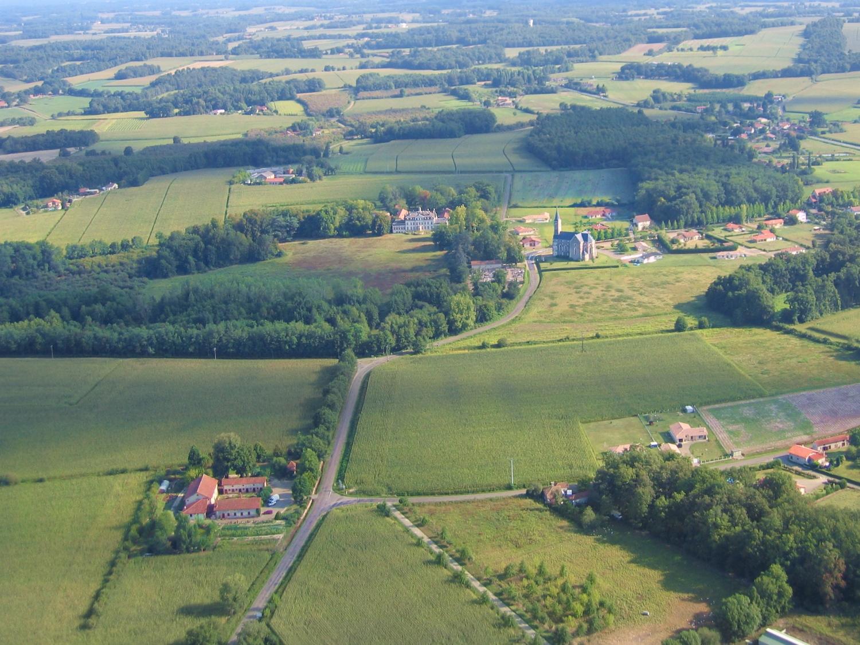 Vue aerienne de Le Vignau
